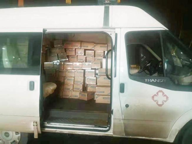 首批華人眾籌購買的醫護用品,已運送到武漢定點醫院。(徐江涵供圖)