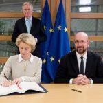 歐盟高官簽了 英國脫歐協議將送歐洲議會批准