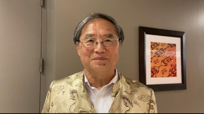 哈岡學區教委會副主席張金生。(記者謝雨珊/攝影)