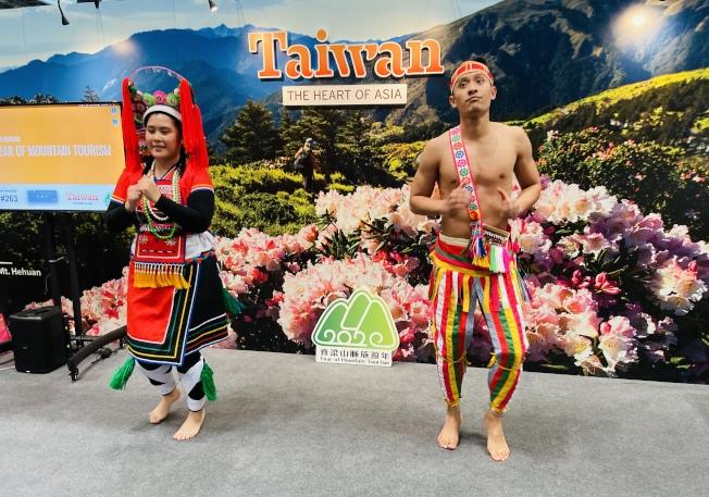 台灣原住民為現場觀眾帶來特色舞蹈表演。(記者鄭怡嫣/攝影)