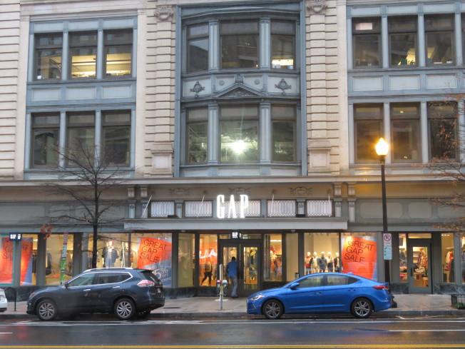 位於美國華府的服飾零售商蓋璞公司(Gap)。(華盛頓記者張加/攝影)