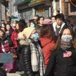 武漢肺炎疫情蔓延 華社口罩成新景觀