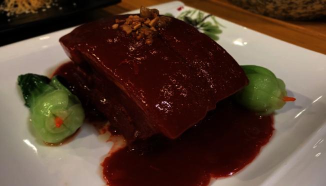 糟肉是蘭州人年菜少不了的美味。(記者王子銘/攝影)