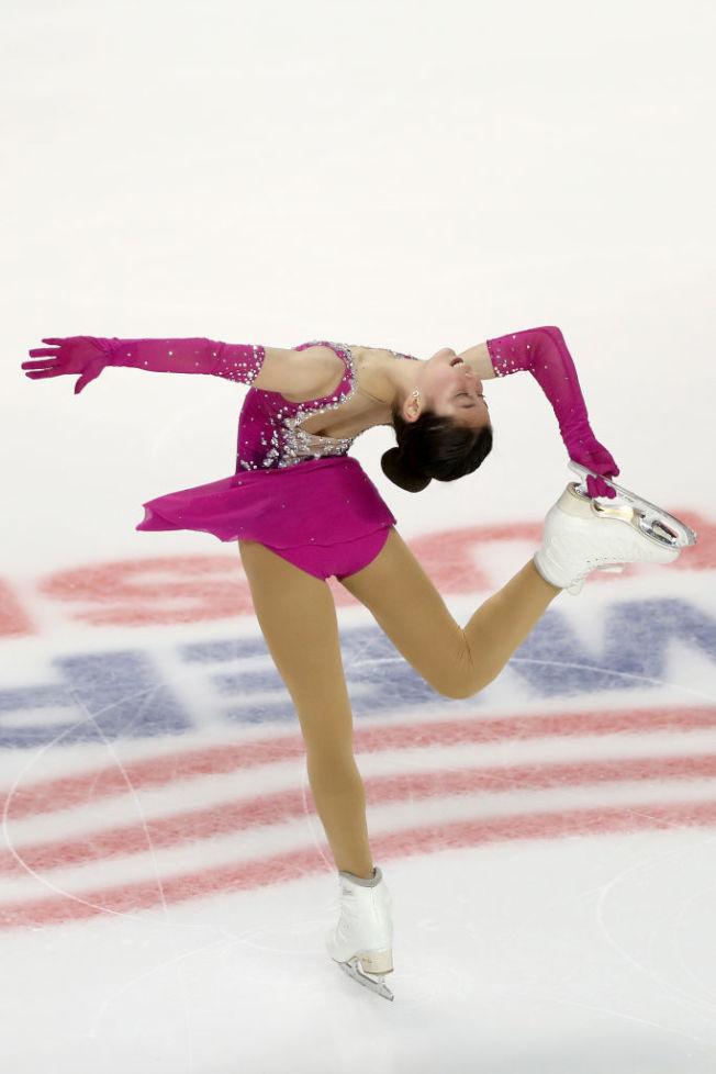 劉美賢在比賽中優美的舞姿。(Getty Images)