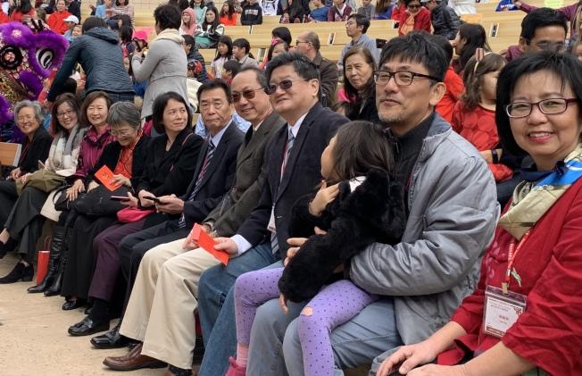 聖地牙哥中華學苑(SDCA)32周年校慶暨春節園遊會熱鬧登場,歡慶大年初二。(記者陳良玨╱攝影)