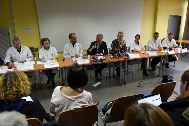 法國疫學專家等多人召開緊急會議說明在法國發現武漢肺炎確診病例的情況。(Getty Images)