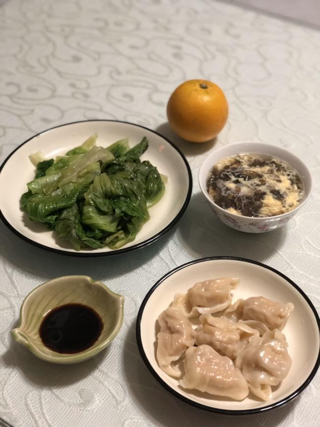 水餃套餐。圖/涂蒂雅營養師提供