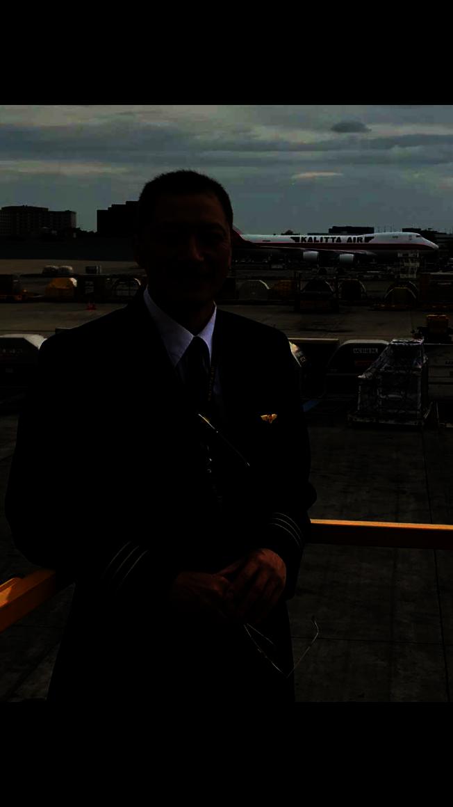 Kalitta Air航空公司波音747機師丁毓麟。(丁毓麟提供)