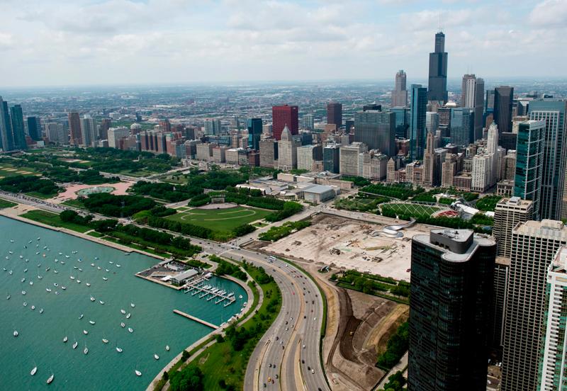 美國疾病控制與預防中心(CDC)24日宣布,芝加哥一名60多歲的婦女已確診為全美第二例新型冠狀病毒肺炎病例,這名婦女於去年12月曾到過武漢。圖為芝加哥市區。Getty Images