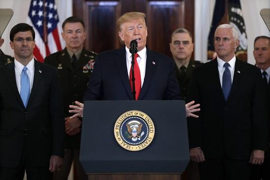 白宮現場 川普:伊朗報復行動 美軍無人受傷 將予經濟制裁