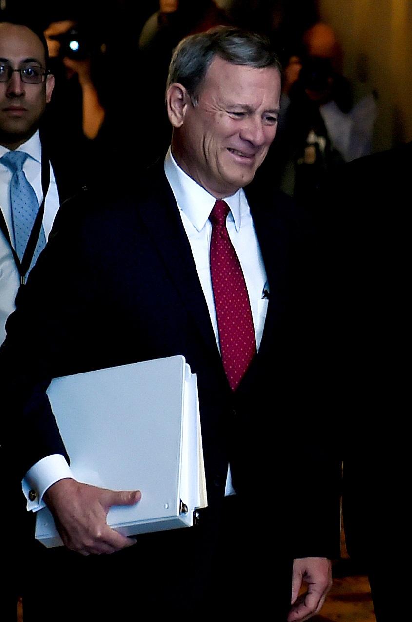 彈劾審理案由首席大法官羅伯茲主持。(Getty Images)