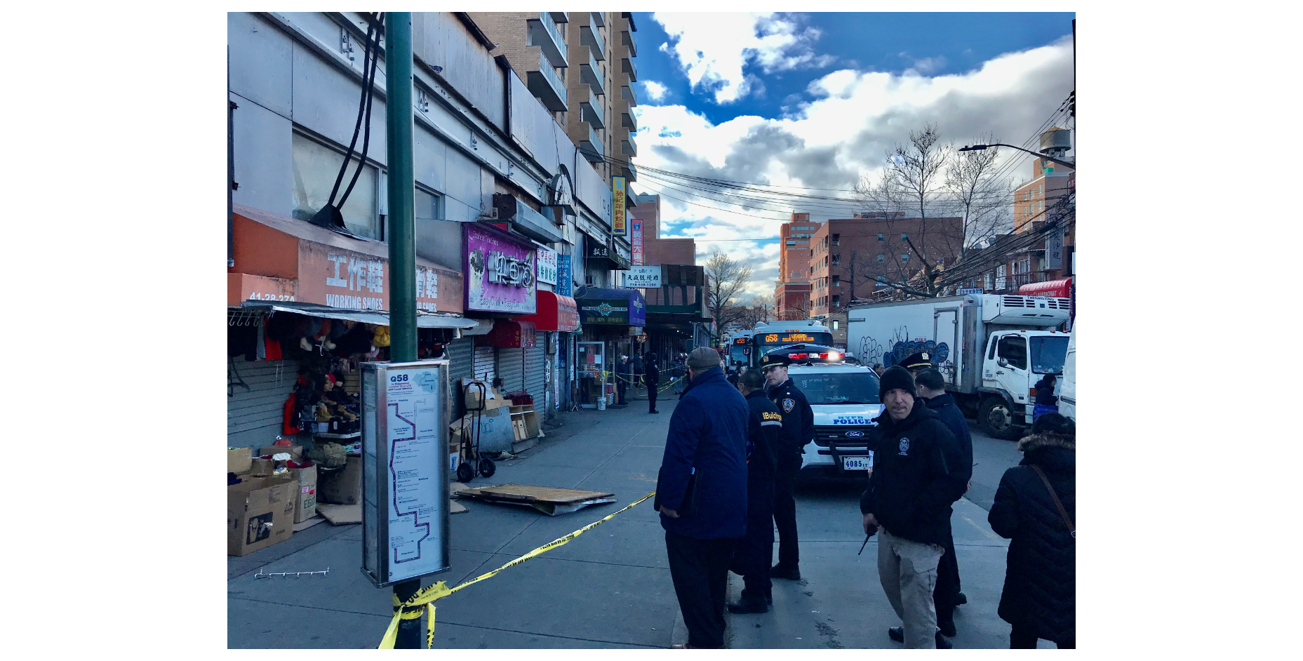 警方封鎖現場調查事故。(記者朱蕾/攝影)