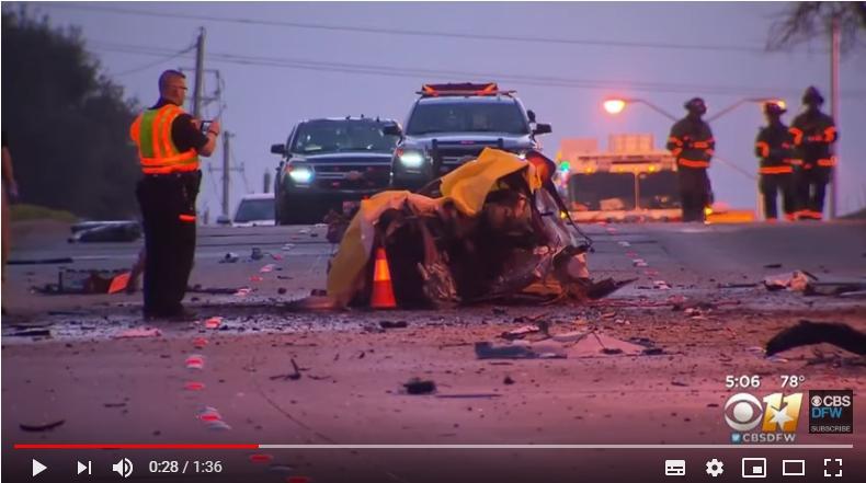 德州布蘭諾市(Plano)17日清晨發生一起三名華裔青少年死亡的重大車禍。(取自CBSDFW截圖)