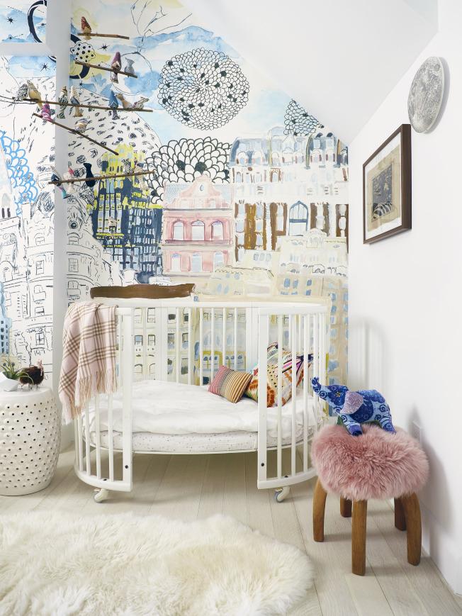翻新的幼童房,萌設計有助提升房屋價值。(美聯社)