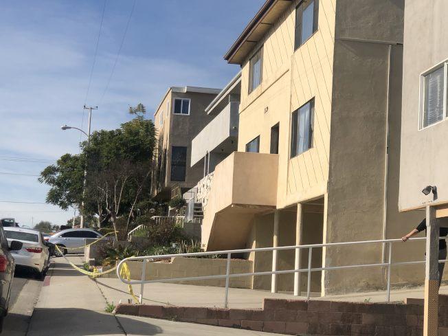 蒙市College View Drive 1100號街區一公寓內,31日清晨發生命案死者疑似華人。(記者王若然/攝影)