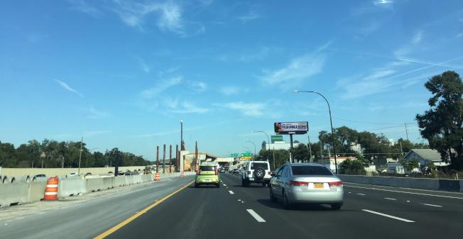 佛州高速公路拓建工程路段之一。(記者陳文迪╱攝影)