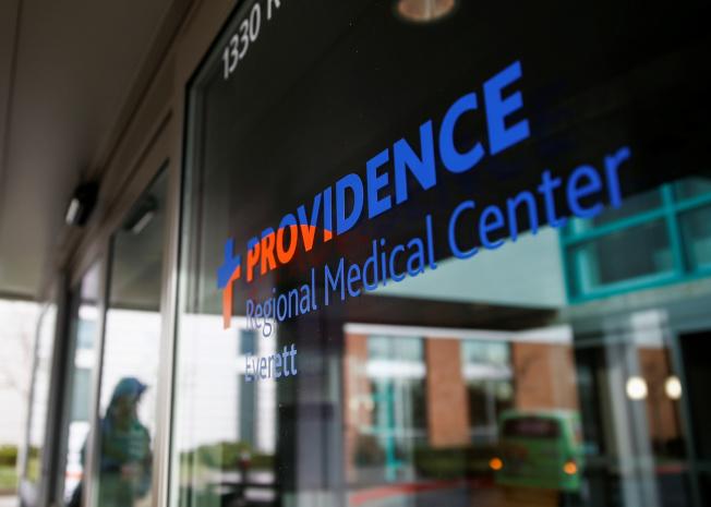 華盛頓州發現的新型冠狀病毒肺炎病人,用藥後迅速好轉。圖為收治病人的普洛維登斯地區醫院。(路透)