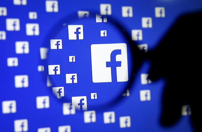 臉書與世衛合作刪除不實的冠狀病毒消息。圖為臉書標誌。(路透)