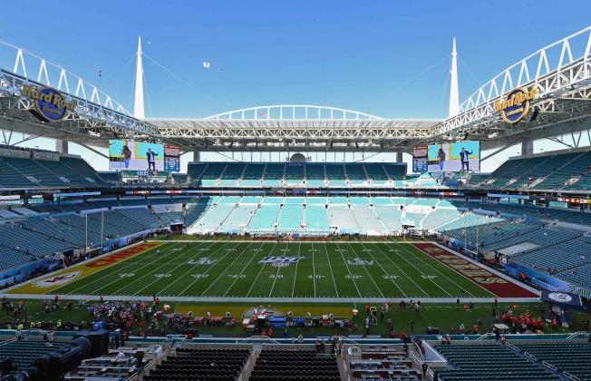第54屆超級盃在邁阿密的硬石體育場(Hard Rock Stadium)舉行。(Getty Images)