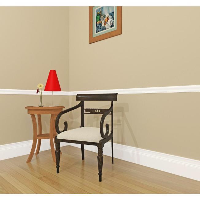 腰封線是在牆面約半人高的地方的一條裝飾線,主要用於避免家具對牆面的破壞。(取自HomeDepot網站)