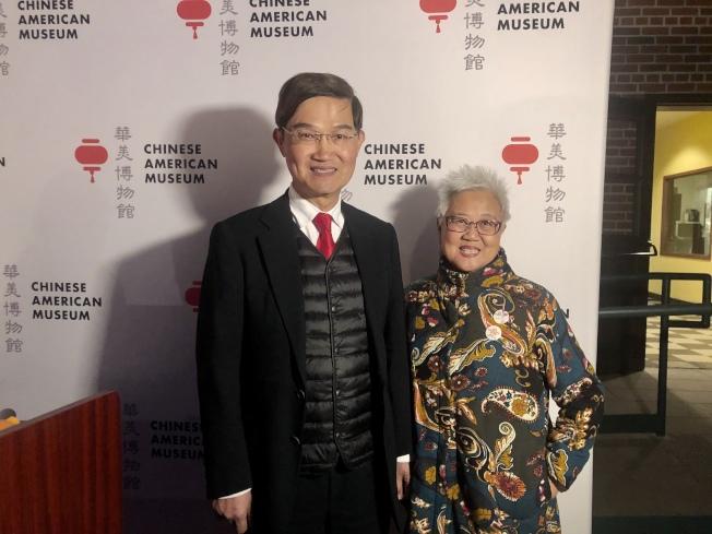 朱文祥(左)與阮桂銘。(記者王若然/攝影)