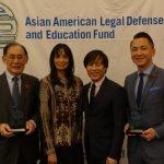 亞美法援處迎春 頒獎華裔律師李偉風