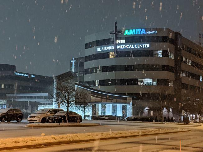 芝加哥新冠肺炎確診夫妻,7日從聖艾立克瑟斯醫院出院。(Getty Images)
