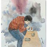 廣州90後藥師水彩塗鴉畫像 致敬援鄂醫護