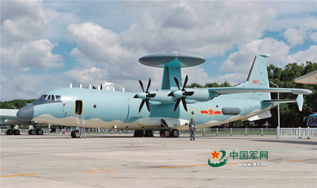 空警500預警機,係以運9運輸機的機體裝設雷達而成。圖/中國軍網