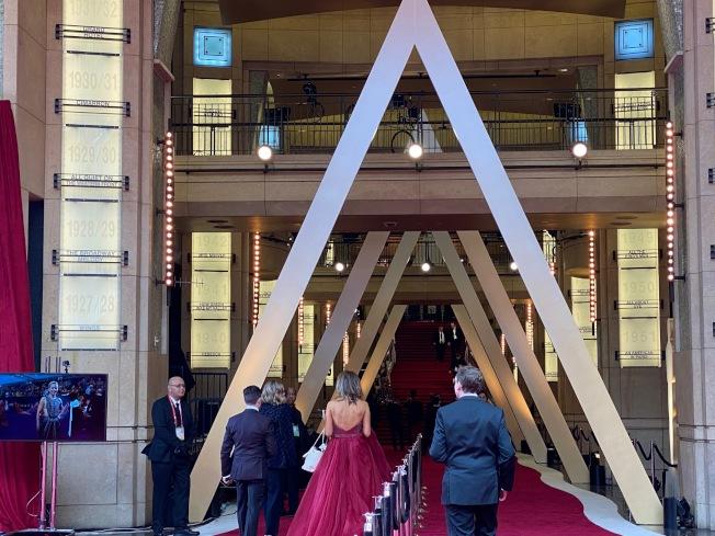 明星將通過這裡進入杜比劇院內部。(記者馬雲/攝影)