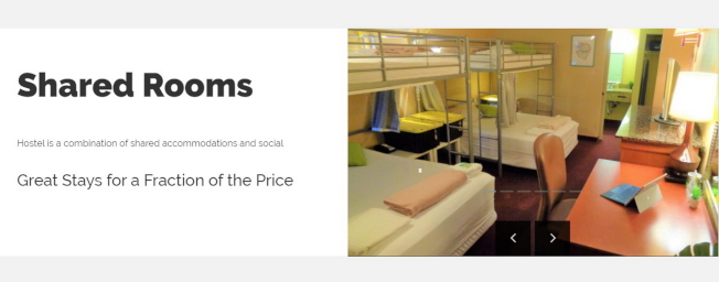 Hostels業者包下旅館房間改裝分租,以床位計算收費,價錢很低廉。(取自BHostels.com網頁)