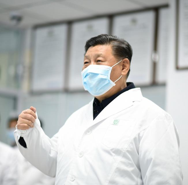 中國國家主席習近平10日在北京指導新冠肺炎疫情防控工作。(新華社)