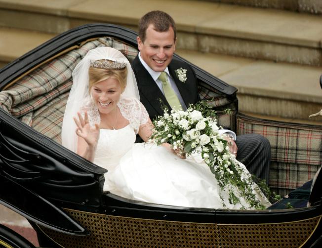 英國女王王孫彼得菲利浦斯2008年5月17日迎娶加拿大籍妻子歐騰。(路透)