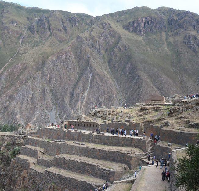 秘魯llantaytambo鎮的印加神廟遺址。(圖由作者提供)