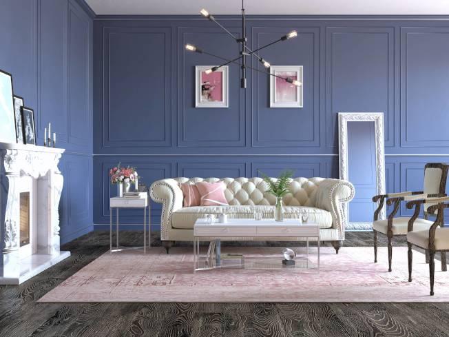 簡單的一些方框可以讓牆面不再空蕩蕩,且具立體感和對稱美感。(取自Lowes網站)