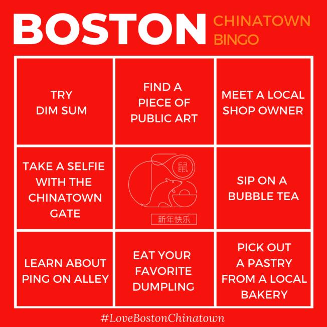 波士頓市長偉殊和經濟發展辦公室啟動宣傳活動,支持華埠小生意,推出華埠「小生意連連看」卡片。(波士頓市府提供)