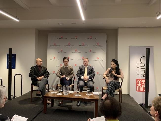 華美協進社12日舉辦題為「一國兩制:香港能找到自己的路嗎」座談會。(記者和釗宇/攝影)