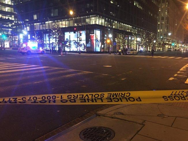 華盛頓特區市中心發生槍案,受害人傷重不治,槍手已被捕,附近路段封鎖。(推特)