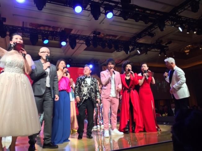 拉斯維加斯永利(Wynn)賭場日前舉辦慶祝中國年晚宴,邀請多位知名中、港、台藝人表演。(記者馮鳴台╱攝影)