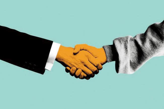 矽谷出現不握手運動。(Getty Images)