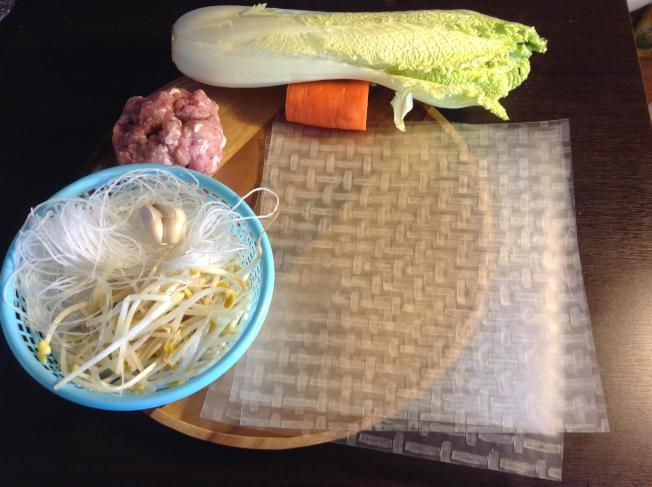 蒸春卷葷餡材料