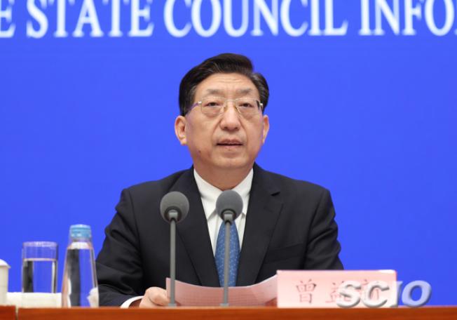 中國國家衛健委副主任曾益新。圖/取自中國國務院新聞辦網站