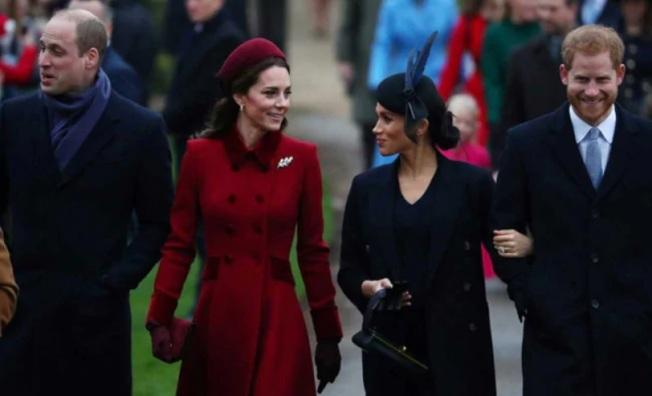 英國兩位王子夫婦之間的互動,是公眾矚目焦點。(路透)