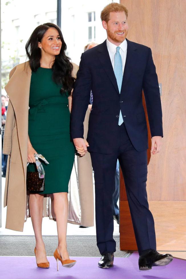 哈利王子與梅根馬克爾2019年10月在倫敦出席Well Child頒獎典禮。(Getty Images)