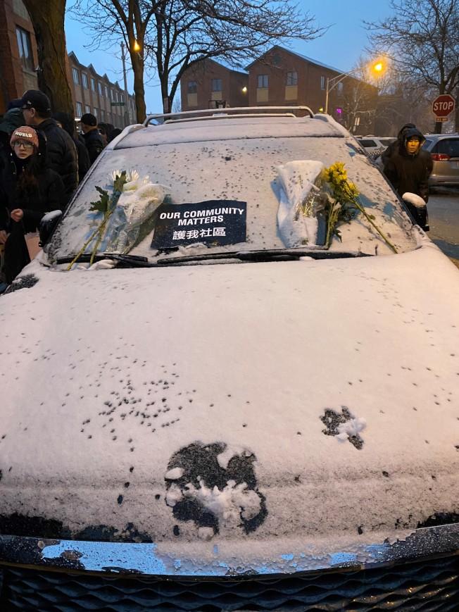 死者邊華一的車子,還停放在路旁。(特派員黃惠玲/攝影)