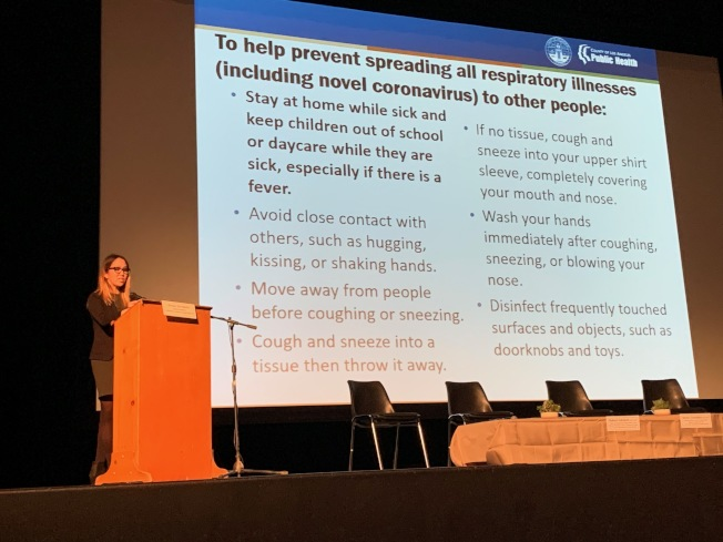 Acute Communicable疾病控制項目的副主管Dawn Terashita醫師。(記者張宏/攝影)