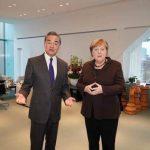 疫情外交 王毅會見梅克爾邀訪中國