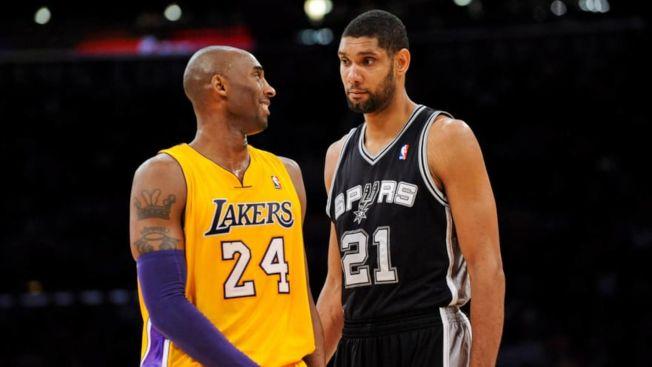 籃球名人堂最終名單出爐,布萊恩特(左)、鄧肯(右)在列。(Getty Images)