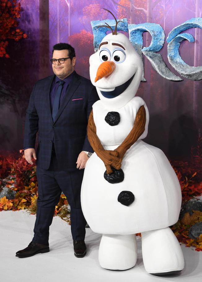 喬許蓋德在「冰雪奇緣」系列為雪寶獻聲。圖/歐新社資料照片