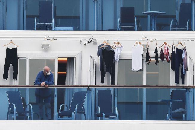 「鑽石公主號遊輪」今天確認再有70人感染新型冠狀病毒,船上總計已有355人感染武漢肺炎。(Getty Images)